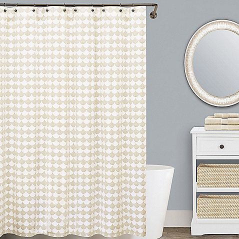 Lamont Home™ Finley 72 Inch X 96 Inch Cotton Shower Curtain In Beige