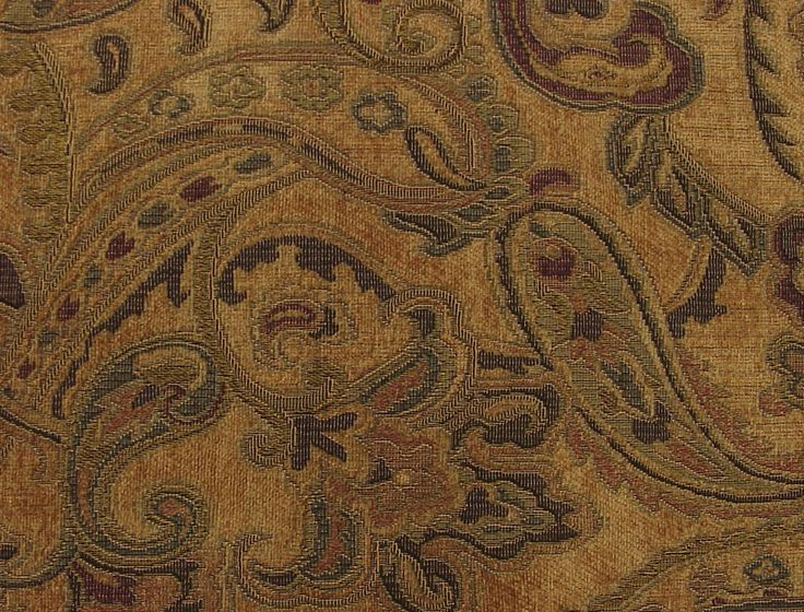 Tapestry Fabric Paisley Chenille Liza Cashmere Jpg