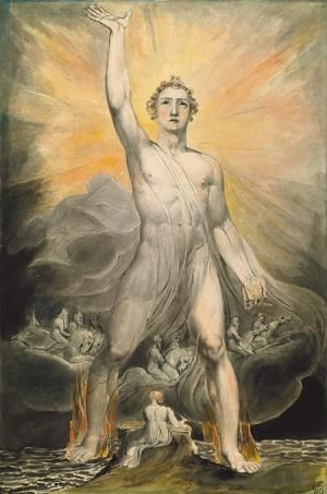 """How Does Gabriel Represent Yesod (the Foundation) in Kabbalah?: Archangel Gabriel reThe painting is """"Angel of the Revelation"""" by William Blake. Archangel Gabriel represents the quality called """"Yesod"""" (the foundation) on the Tree of Life in Kabbalah."""