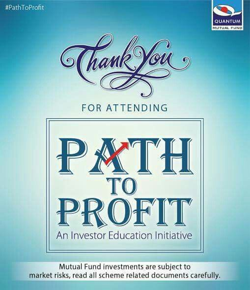 Thank you for attending Path To Profit – an investor education initiative, in the cities of Thiruvananthapuram & Coimbatore. Hope your interaction with the experts was helpful. However, if you still have any doubts about investing in mutual funds, kindly post your mail ID/Mobile No. in the comment section. We will get back to you at the earliest.  #QuantumAMC #PathToProfit