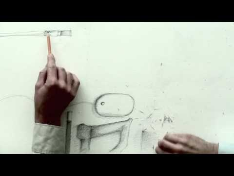 """Diagram Team Work  Year: 2009    In the video """"Team Work"""" the other side of the ideas, handicraft and art is portait; the transience. Collaboration as something fruitful and destructive."""