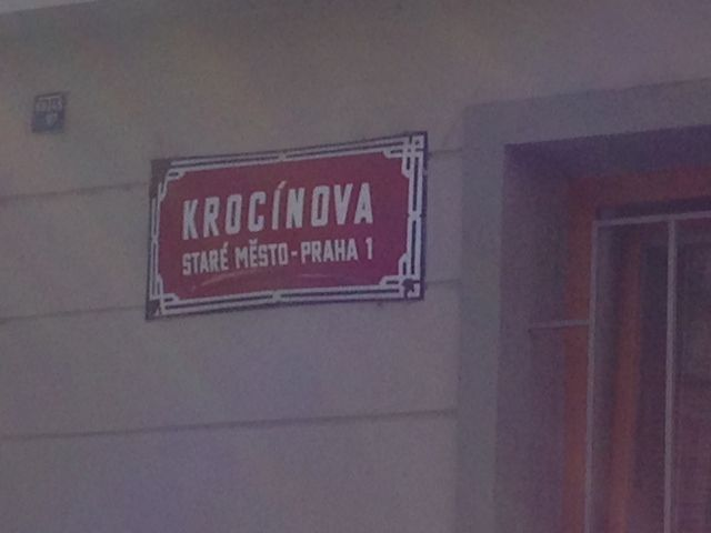 ... and here is the name of the street Krocinova. Enjoy!