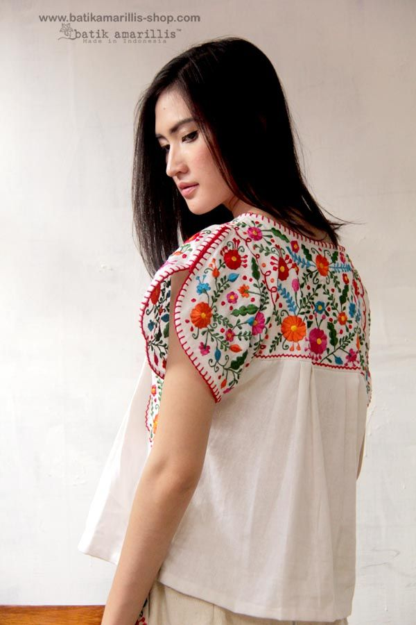 Batik Amarillis' s Mexican embroidery series.... Made in Indonesia