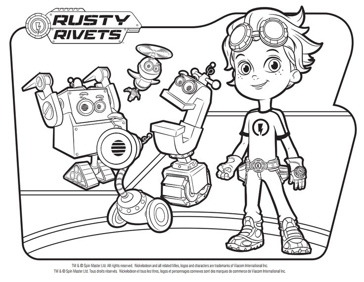 rusty rivets coloring pages - 50 best rusty rivets images on pinterest coloring book