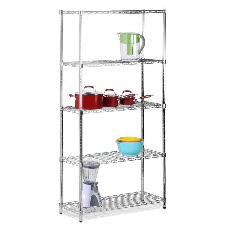 Glass Shelves Bathroom Trolley