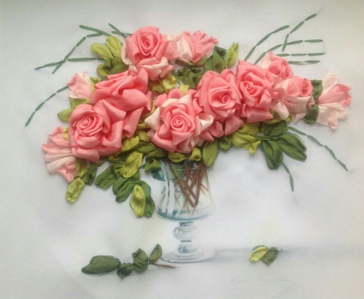 Best images about Вышивка лентами silk ribbon