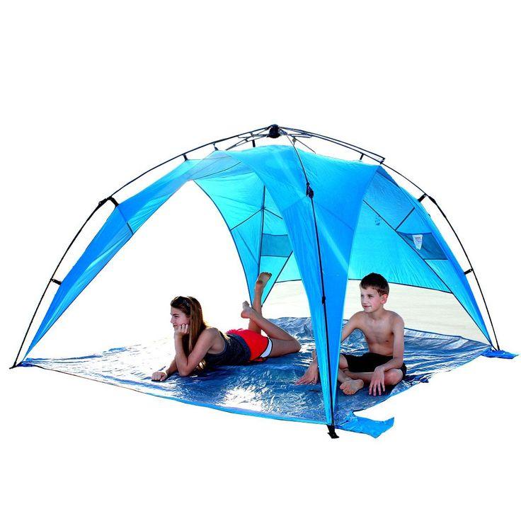 EasyGo Shelter XL Instant Beach Umbrella With PVC Floor