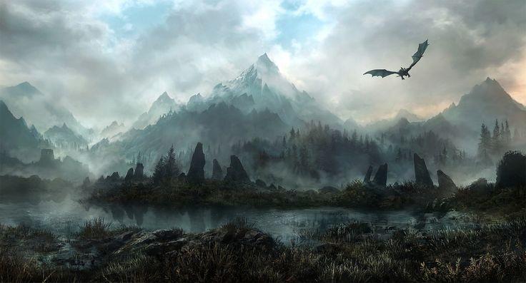 Video Game The Elder Scrolls V: Skyrim  Landscape Mountain Wallpaper