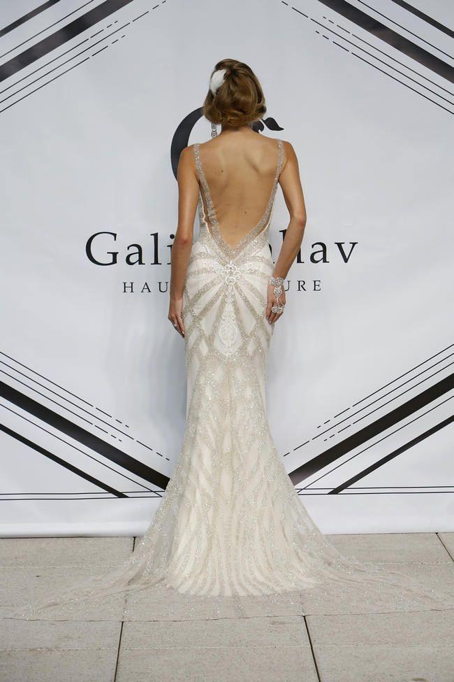 Gatsby / Art Deco inspired wedding dresses // Galia Lahav Autumn / Winter 2015 Collection // Wedding Blog   Confetti Daydreams #flapper #roaringtwenties  // Backless Beaded