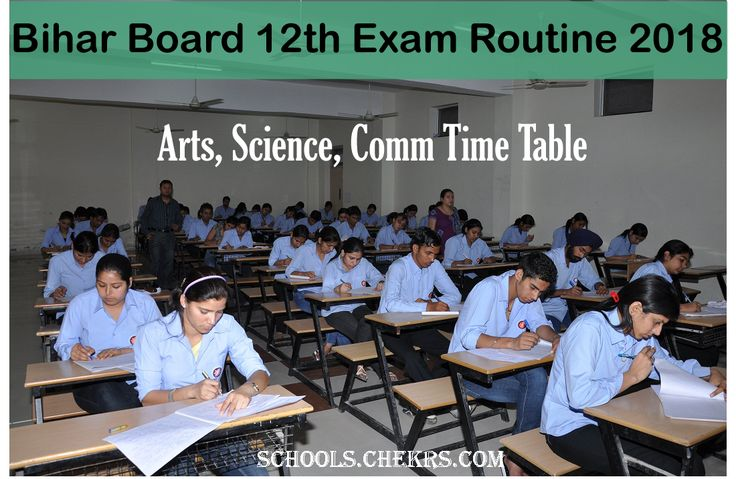 Bihar Board 12th Exam Routine 2018 Arts, Science, Commerce