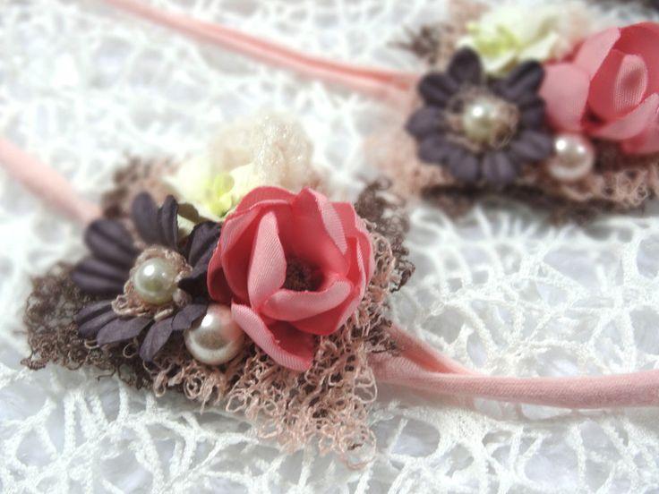 Haarbänder - Baby Haarband blush Accessoire Fotoshooting Prop  - ein Designerstück von MONICCI_Handmade_Props bei DaWanda