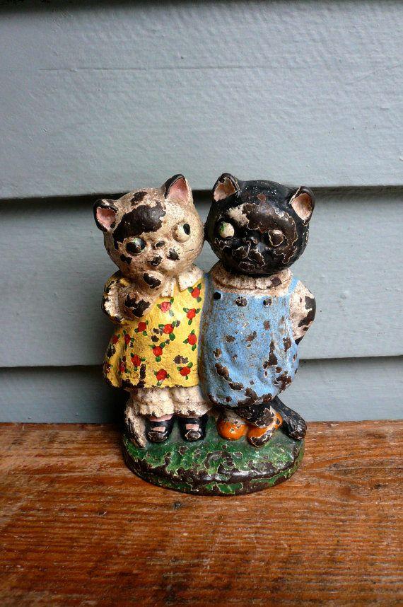 Antique Door Stop Cast Iron Kitty Friends 1920s - 201 Best ~Door Stops~ Images On Pinterest Cast Iron, Dog