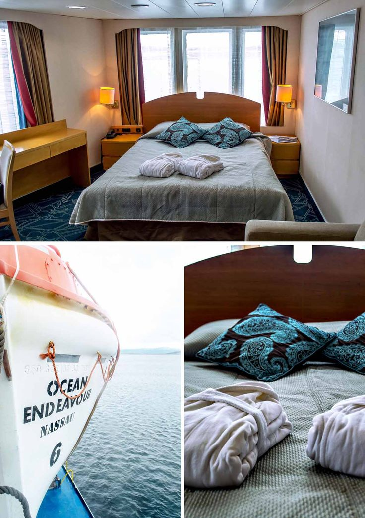The Top Deck Twin - Room 8008 - on the Ocean Endeavour with Quark Expeditions to Antarctica | heneedsfood.com