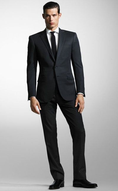Groom's Outfit » NYC Wedding Photography Blog    Dark Charcoal Grey   Ralph Lauren Suit