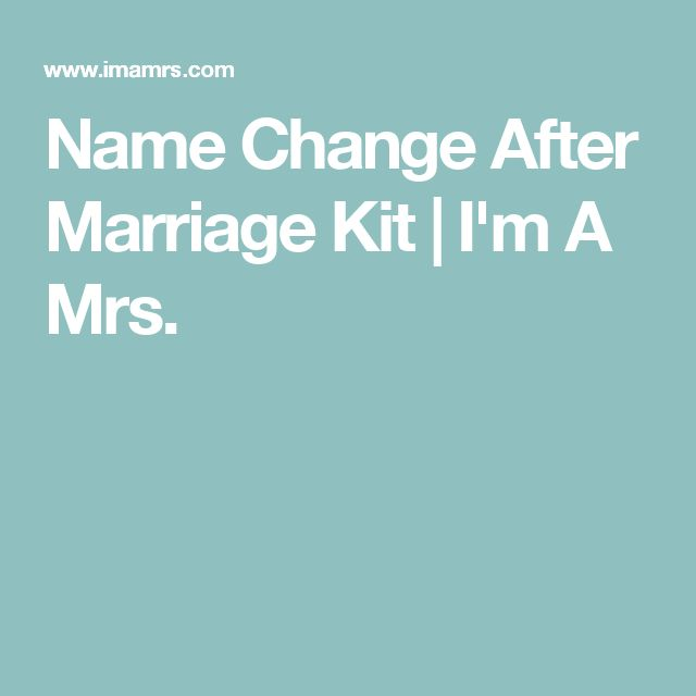 Name Change After Marriage Kit   I'm A Mrs.