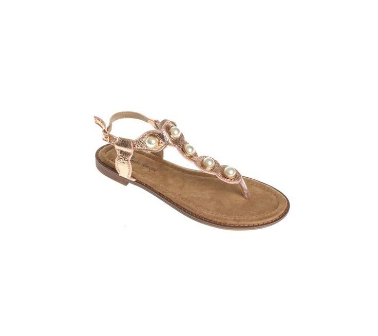 Metalické žabky s aplikáciou korálok | modino.sk #ModinoSK #modino_sk #modino_style #style #fashion #summer #sandals