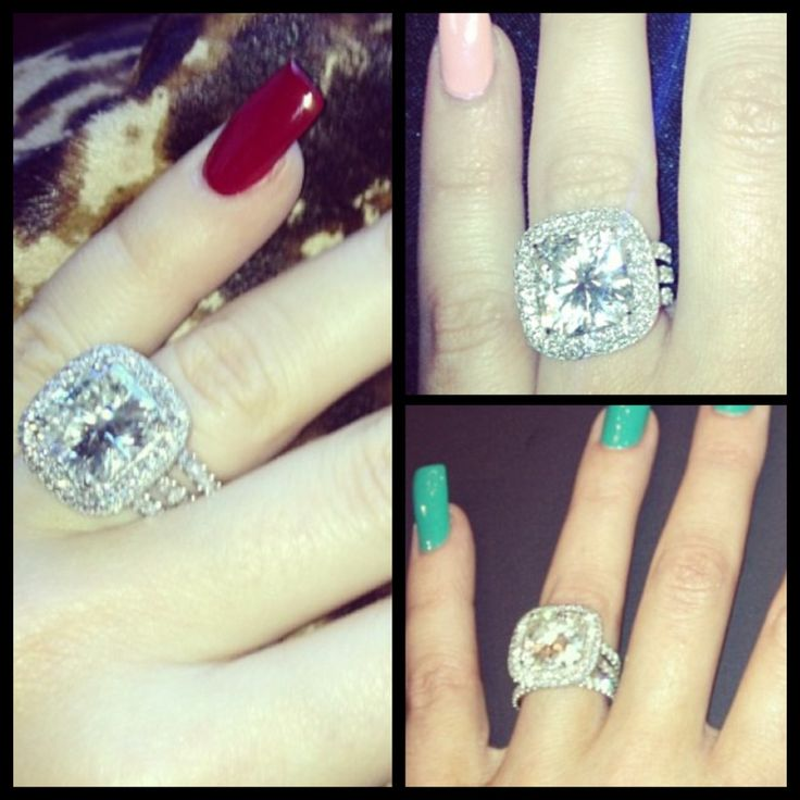 Khloe Kardashian's ring. This is a little small for my taste..