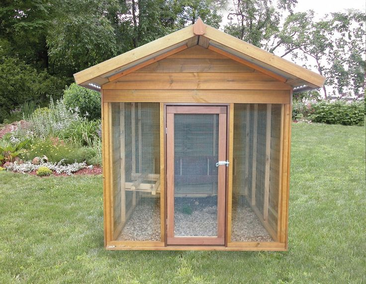 Timber Chook House | Wooden Chook Pen | attractive pet houses from Aarons