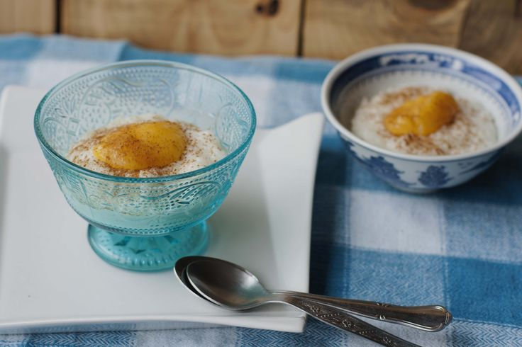 rice pudding with lemon curd