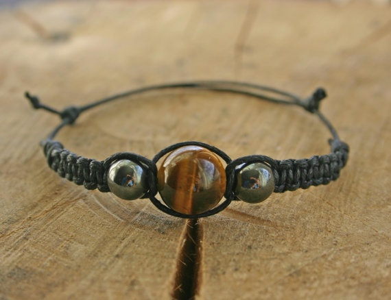 Tiger's Eye and Hematite Bracelet Handmade Affordable by TriouZ, £5.79