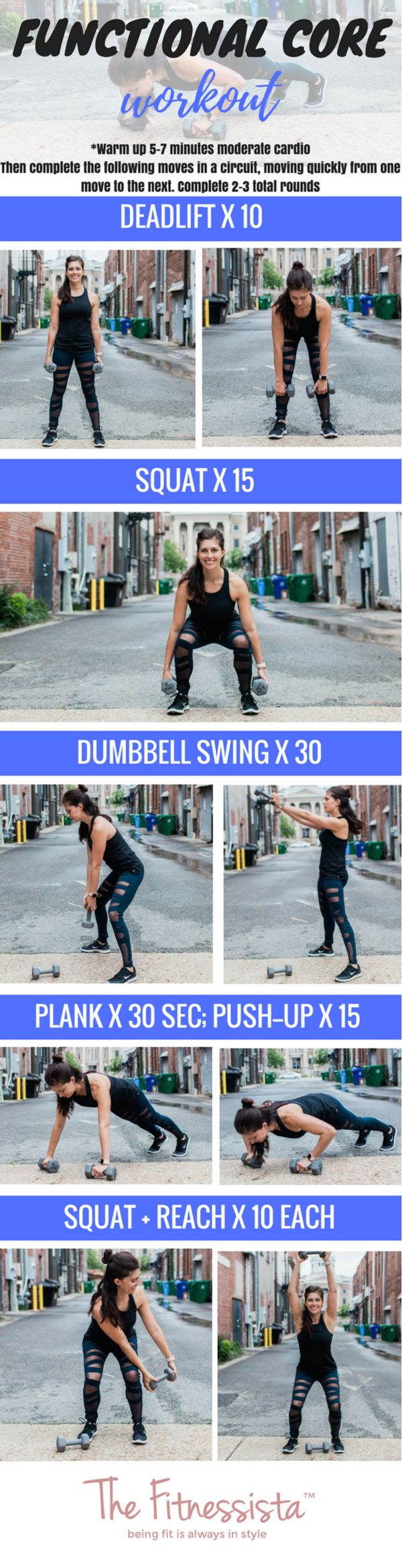 This functional core workout will challenge your muscles for everyday life. Check it out for increased strength, endurance, and better posture. fitnessista.com