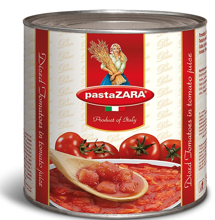 Diced tomatoes in tomato juice Pasta Zara #tomato #pasta #food#italy