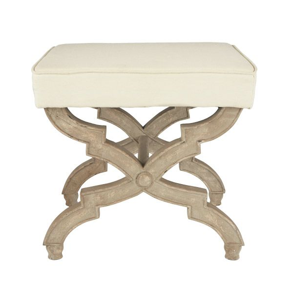 Wisteria X-Base Stool Cream.  We could do a little custom slip or upholster in the leopard!