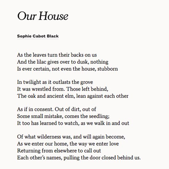 Share Our House By Sophie Cabot Black With Your Partner On Anniversary Wedding Poemswedding