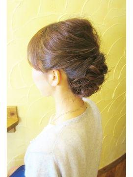 ねじり編みフルアップ♡ミディアムヘアさんのフルアップ参考です♡