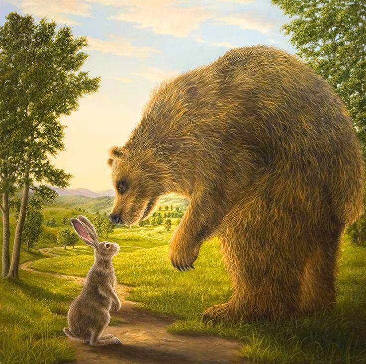 картинка медведь с зайчик распространённое представление шифере