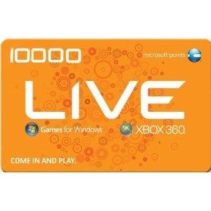 Microsoft Xbox 360 Live Points - 10000 Points (Video Game)  http://234.powertooldragon.com/redirector.php?p=B003ZZYZLW  B003ZZYZLW