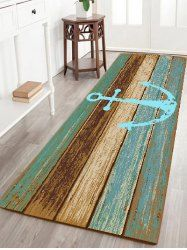 Deck Anchor Pattern Water Absorption Indoor Outdoor Area Rug