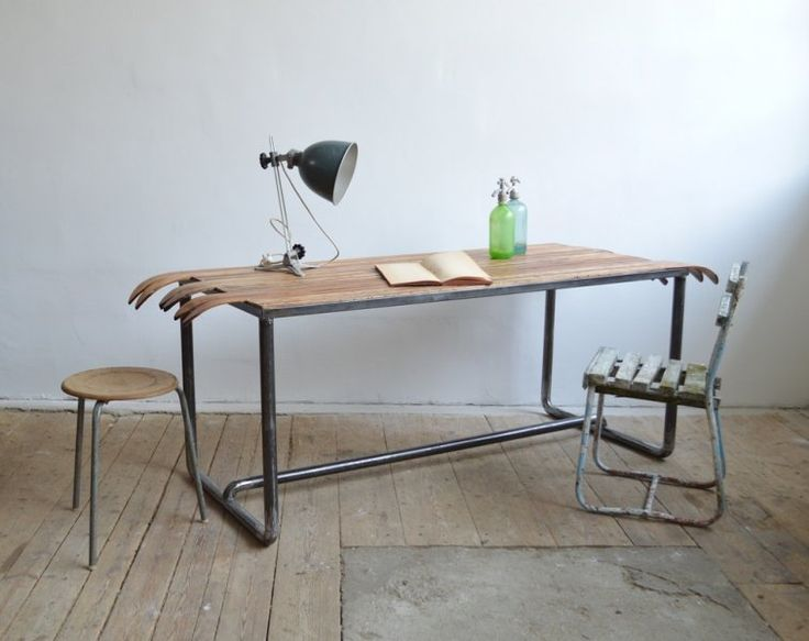 Large table from ashen skis (artKRAFT Furniture&Design)