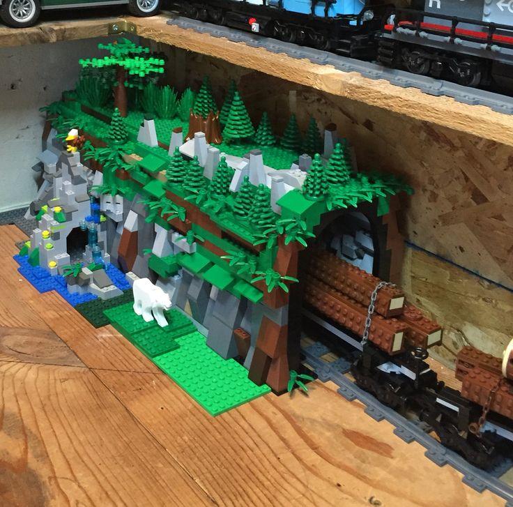 Lego Train Tunnel Lego Mocs Pinterest Lego Trains