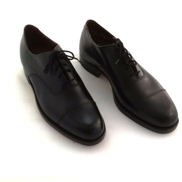 Dack Bespoke Oxfords Men Black Leather Uppers Soles Cap Toe Sz 9.5 D Unused #Dacks #Oxfords #Business