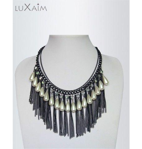 Vintage black chain Necklace