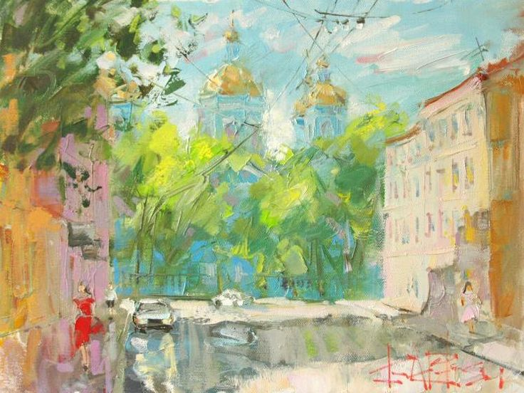 Сухоплюев Константин. Никольский собор летом,  Suhopljuev Constantine. St. Nicholas Cathedral in summer