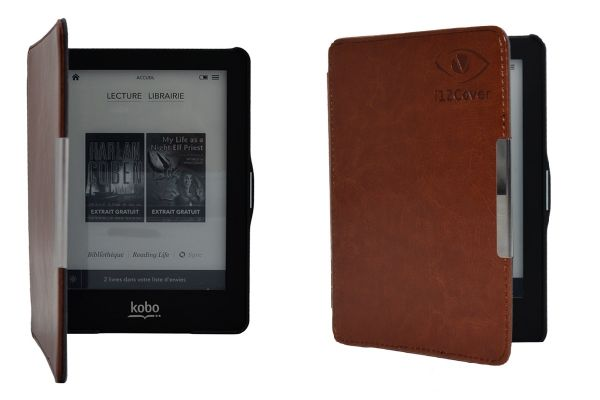 Slimfit Cover Protective Case for the Kobo Glo - Brown