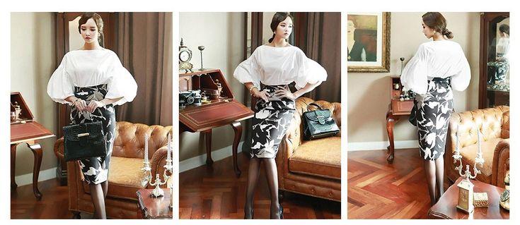 Aliexpress.com: Купить Fasicat винтаж блузка roupas femininas camisas половина фонарь рукав слэш шеи воротник женская одежда офис блузка S141007 из Надежный Блузки и рубашки поставщиков на FASICAT