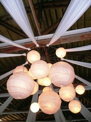 Love this light fixture in the Mt. Hood B&B barn in Oregon. Reminds me of the new Footloose movie light fixture. Check out the salvaged wagon wheel holding it all together.