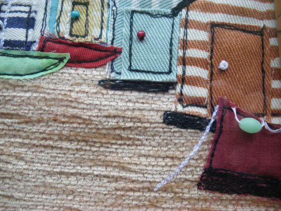 nautische muur kunst geborduurde strand hutten door itsaMessyNest