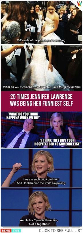25 Times Jennifer Lawrence Was Being Her Funniest Self