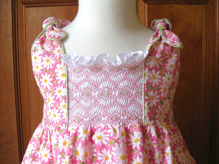 Hand smocked girl toddler twirly tiered by ForTheLoveOfSmocking