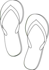 Flip Flops Outline clip art - vector clip art online, royalty free & public domain