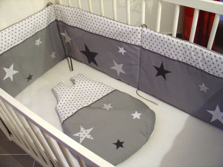 ensemble tour de lit et gigoteuse toil s mode b b par. Black Bedroom Furniture Sets. Home Design Ideas
