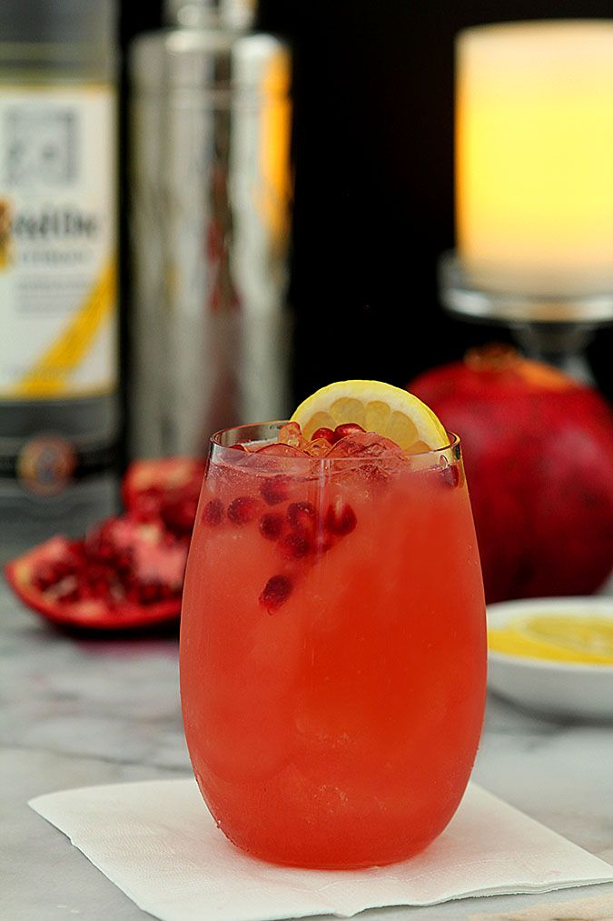 This Pomegranate Lemon Fizz could not be easier to make and is both delicious and so beautiful. Perfect for holiday get togethers!