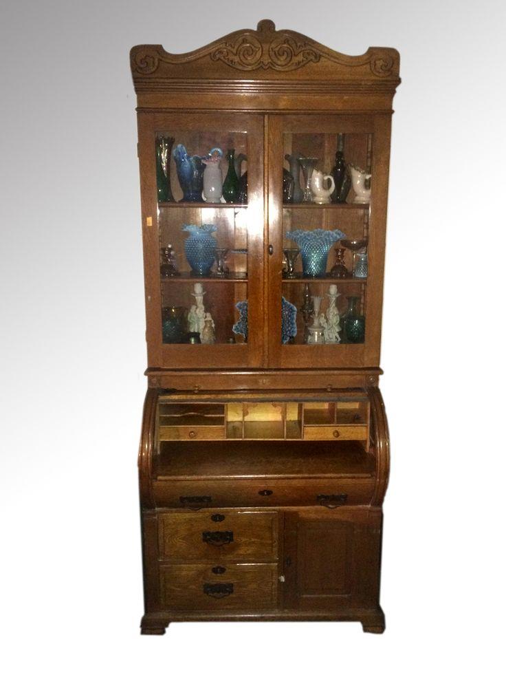 17506 Oak Cylinder Secretary Desk **REDUCED PRICE. Secretary DesksLiving  Room FurnitureAntique FurnitureMaineSecretary ... - 70 Best Antique Living Room Furniture Images On Pinterest