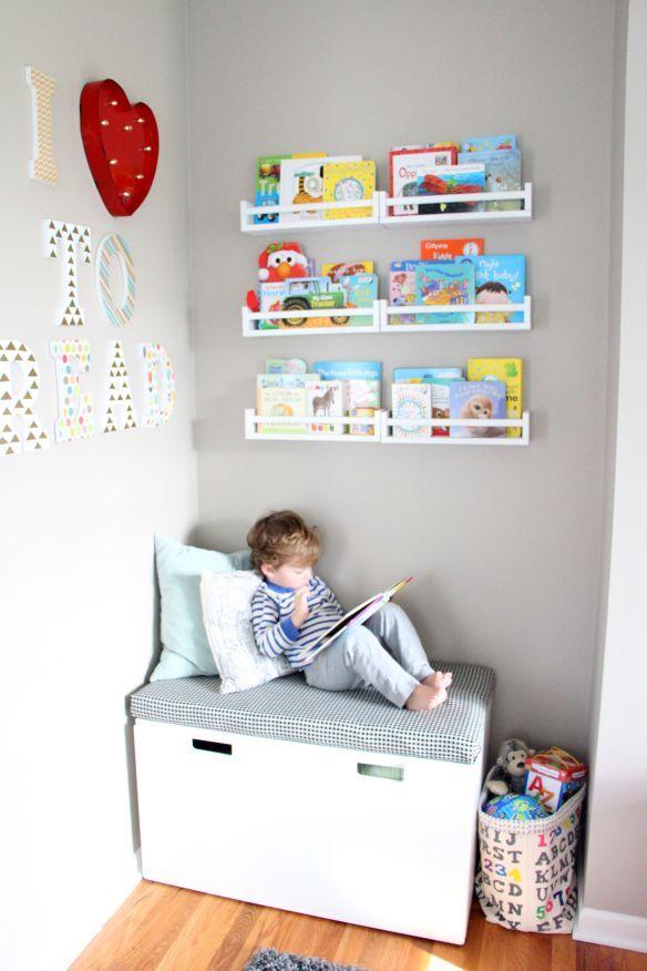 DIY Spielzimmer Leseecke + kein Nähen Sitzkissen + DIY Regale