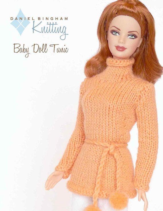 Knitting Patterns For Barbie Dolls : 448 best images about Horgolt,kotott Barbie ruhak on Pinterest Crochet barb...