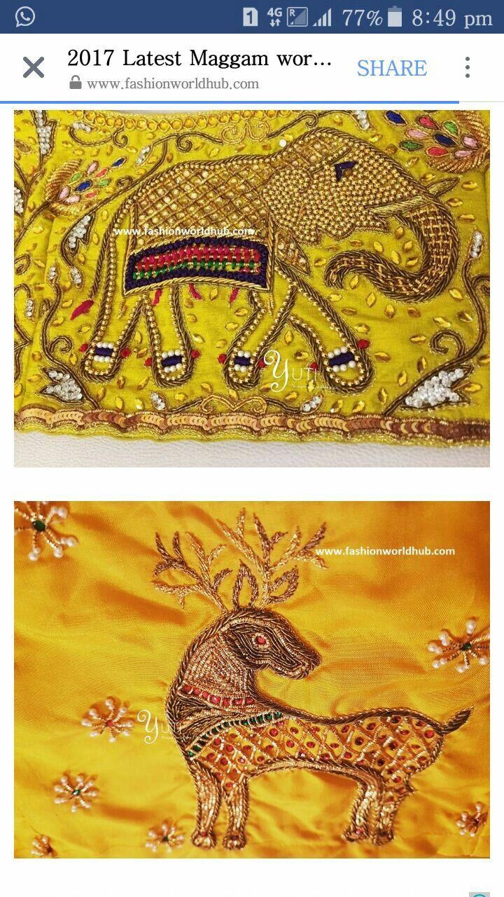 best aari work images on pinterest blouse patterns saree